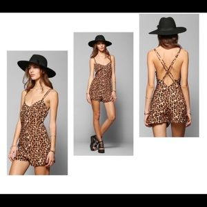 Leopard shorts- Romper